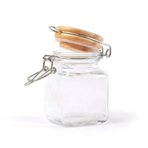 Mini bocal carré en verre - H.7,5 cm