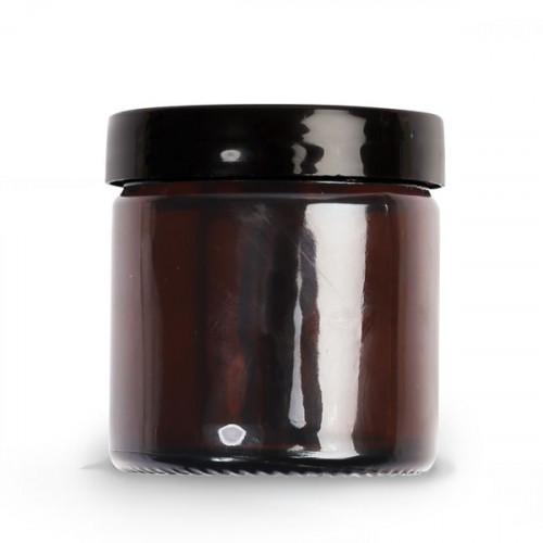 Pommadier ambre en verre - 60 ml