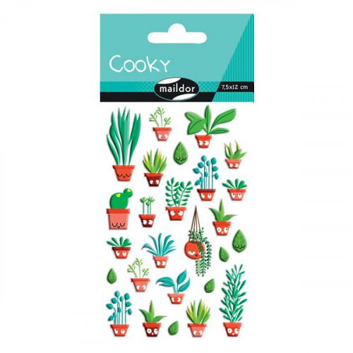 Stickers 3D - Cooky - Jardin d'intérieur x 26 pcs