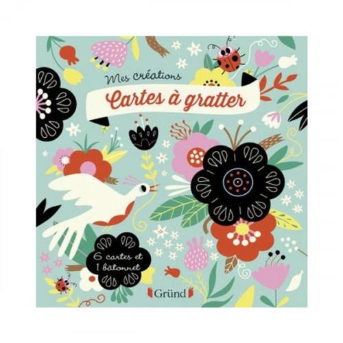 Cartes à gratter Fleurs - 6 pcs