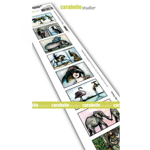 Tampon Cling Etiquettes pour timbres Des hommes et des animaux