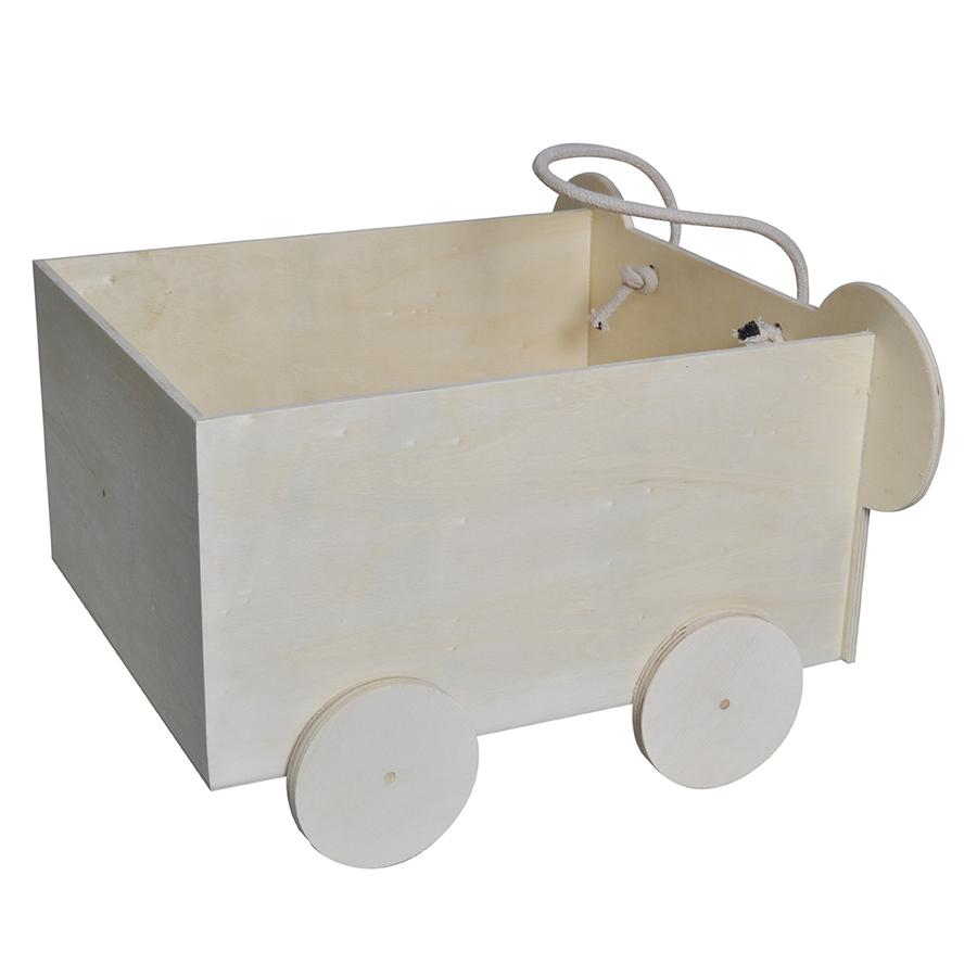 Chariot en bois Koala 30 x 20,5 x 34 cm