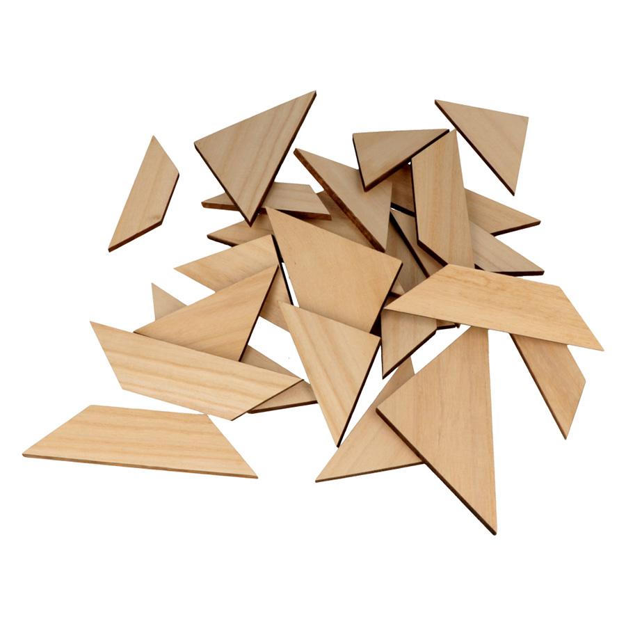 Plateau en bois Puzzle 30 x 30 x 6 cm