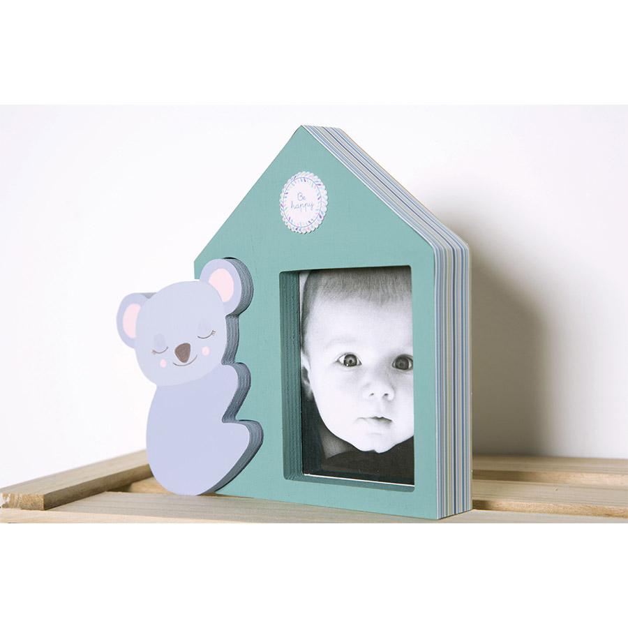 Cadre maison en bois avec Koala 18 x 19 cm