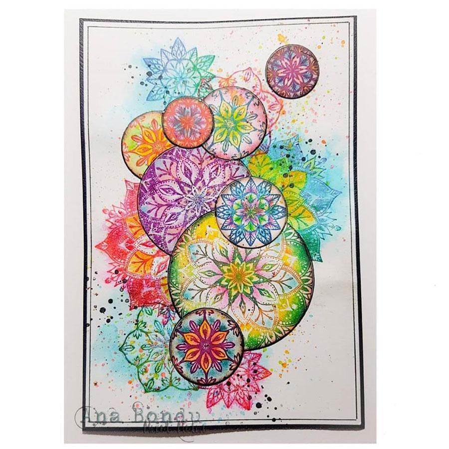 Tampons Cling Elements floraux - 3 pcs