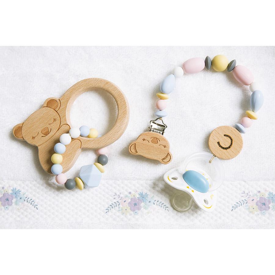 Perles en silicone Cœur 2,9 x 1,9 x 1,2 cm - rose - 2 pcs