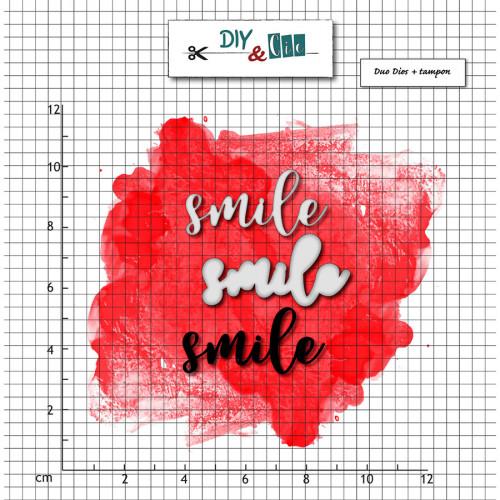 Tampons et Dies Smile - 3 pcs