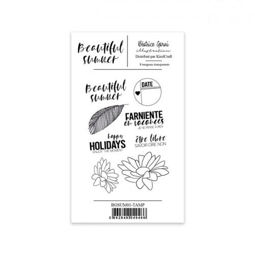 Tampons transparents Beautiful Summer #1