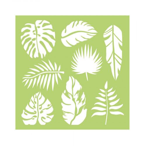 Pochoir Feuilles tropicales - 15 x 15 cm