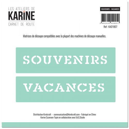 Die Set Souvenirs-Vacances - 2 pcs