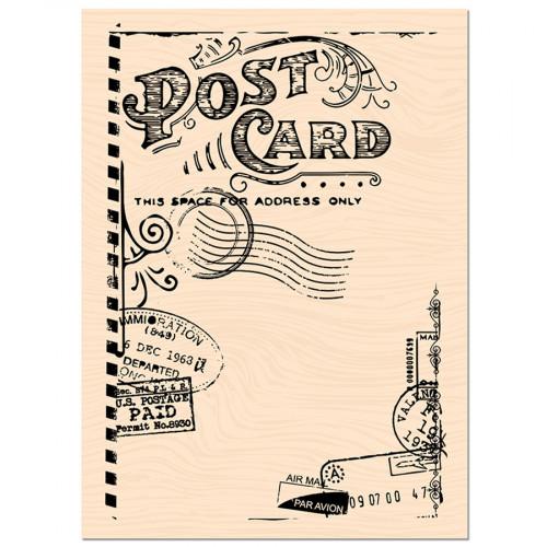 Tampon bois Post Card - 7 x 10 cm