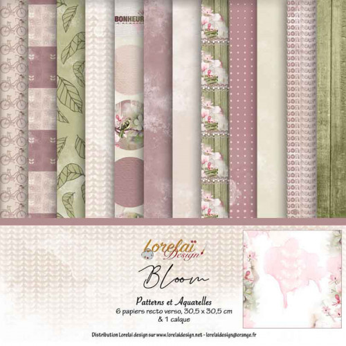 Kit Patterns et Aquarelles assorti à la collection Bloom