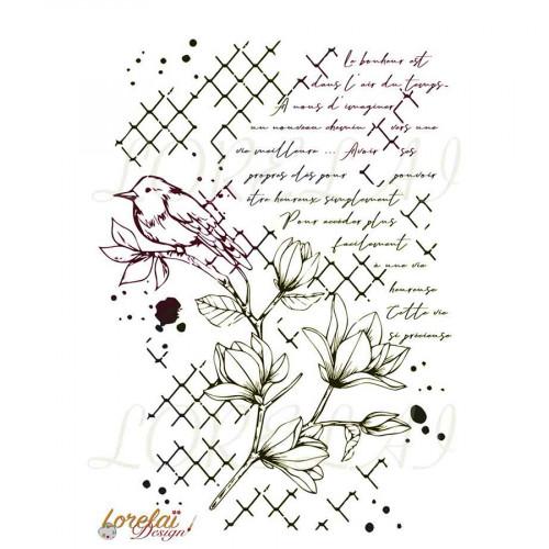 Tampon transparent Bloom : Fond Vie précieuse
