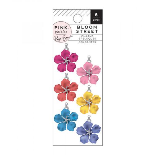 Bloom Street Breloques Fleurs - 6 pcs