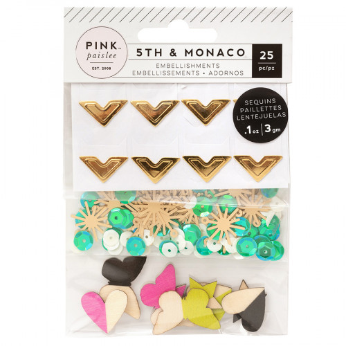 5th and Monaco Assortiment d'embellissements - 25 pcs