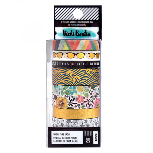 Let's Wander Washi Tape - 8 rouleaux