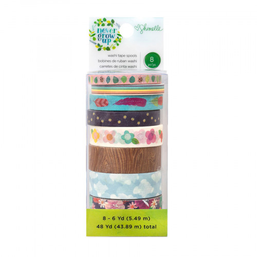 Never Grow Up Washi Tape - 8 rouleaux
