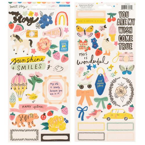 Sweet Story Stickers - 98 pcs