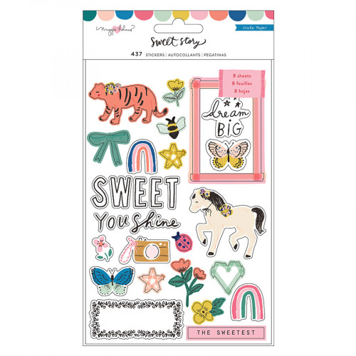 Sweet Story Sticker Book - 8 pages