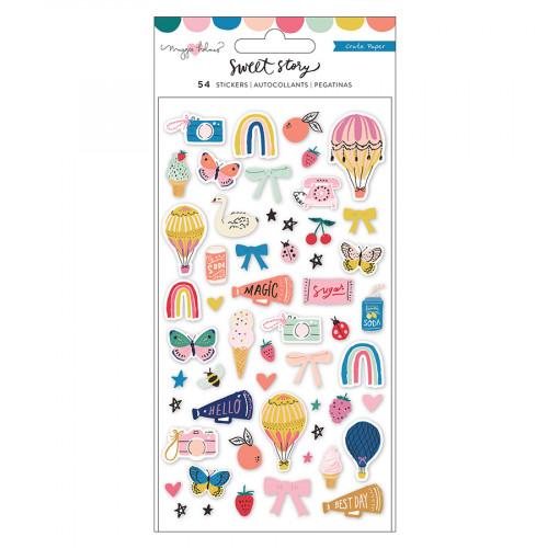 Sweet Story Puffy Stickers - 54 pcs