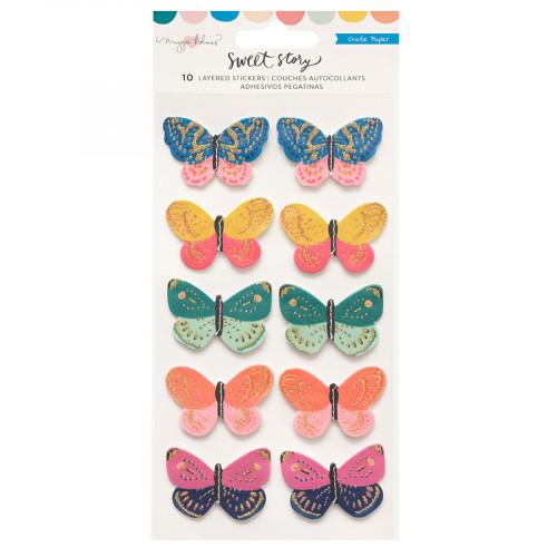 Sweet Story Papillons 3D -10 pcs