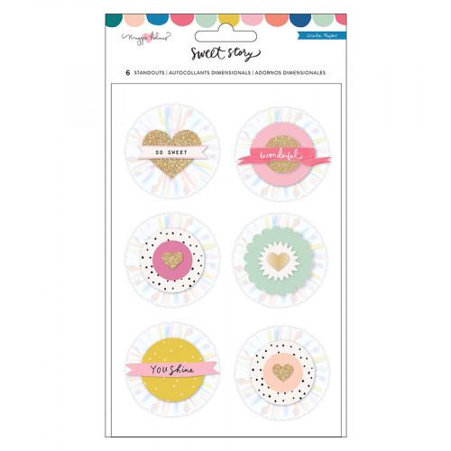 Sweet Story Stickers 3D - 6 pcs