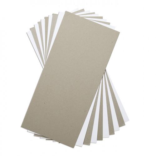 Planches en carton Mix Media - gris / blanc - 15 x 33 cm - 10 pcs