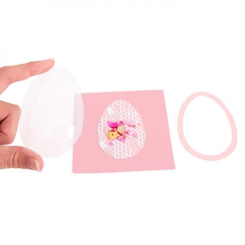 Dômes forme Œuf / Ballon pour Shaker Cards - 7,6 x 5,1 cm