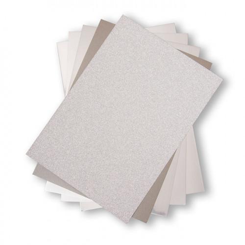 Cardstock Pack Tons argentés - 20,3 x 29,2 cm - 50 feuilles