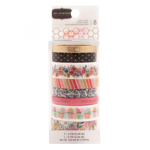 Hey, Hello Washi Tape - 8 rouleaux