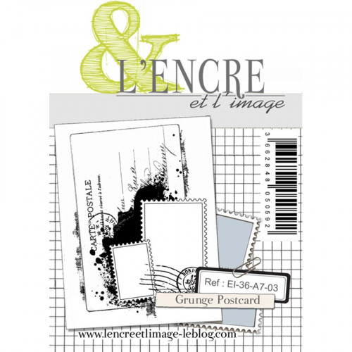 Tampon transparent Grunge postcard