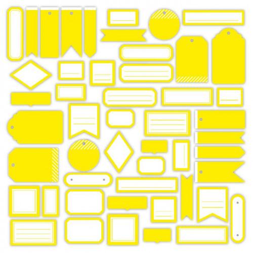 Assortiment Etiquettes #3 - jaune soleil