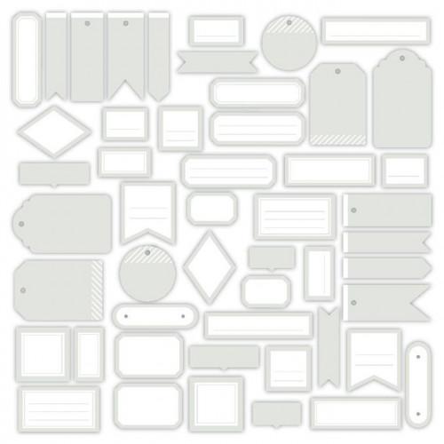 Assortiment Etiquettes #4 - gris doux