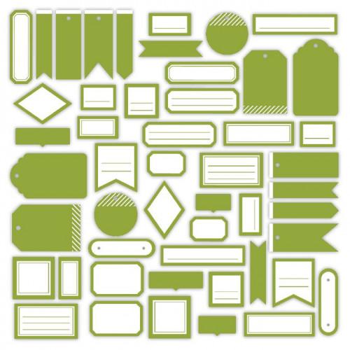Assortiment Etiquettes #5 - vert feuillage