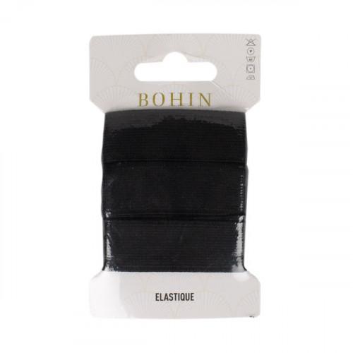 Élastique tissé souple Noir 18 mm x 0,8 m