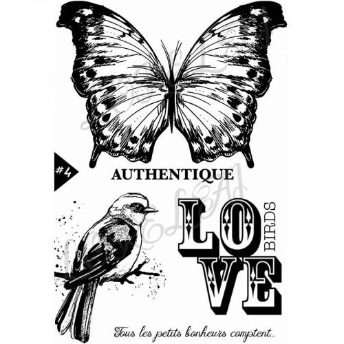 Tampons transparents Papillon authentique