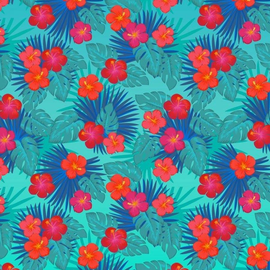 Feuilles de transfert Infusible Ink Fleurs exotiques - 2 feuilles de 30,5 x 30,5 cm