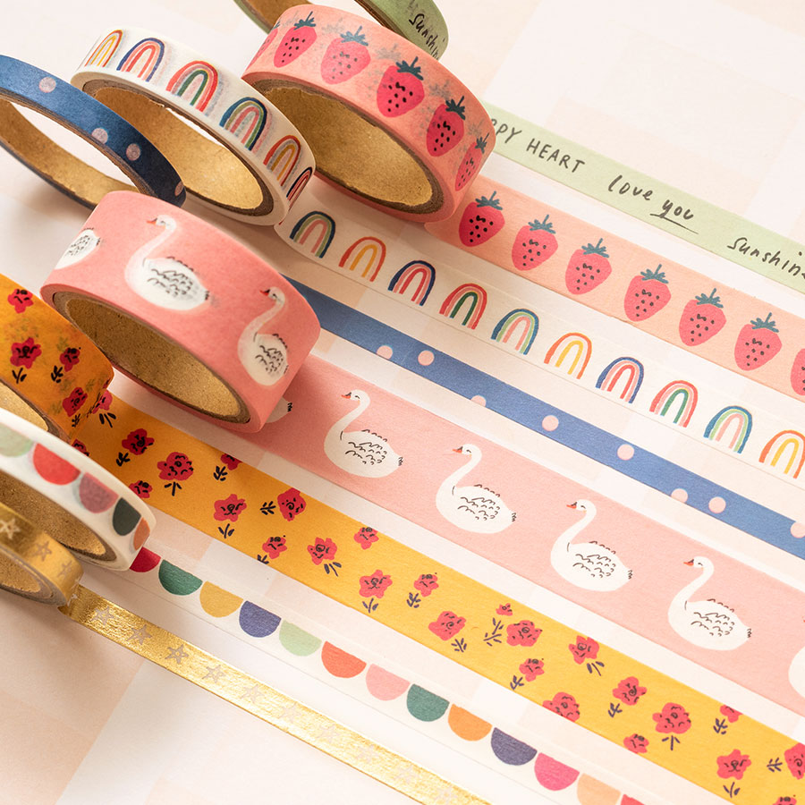 Sweet Story Washi Tape - 8 rouleaux