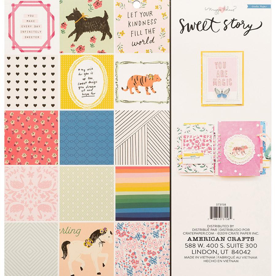 Sweet Story Bloc de papiers 30 x 30 cm