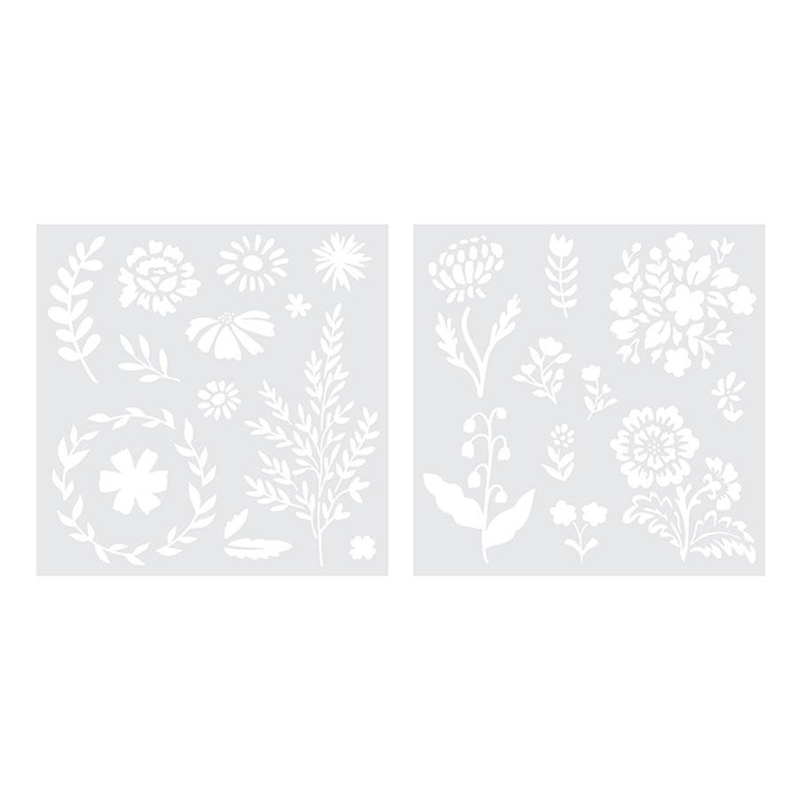 Pochoirs Fleurs Foil Quill - 2 pcs
