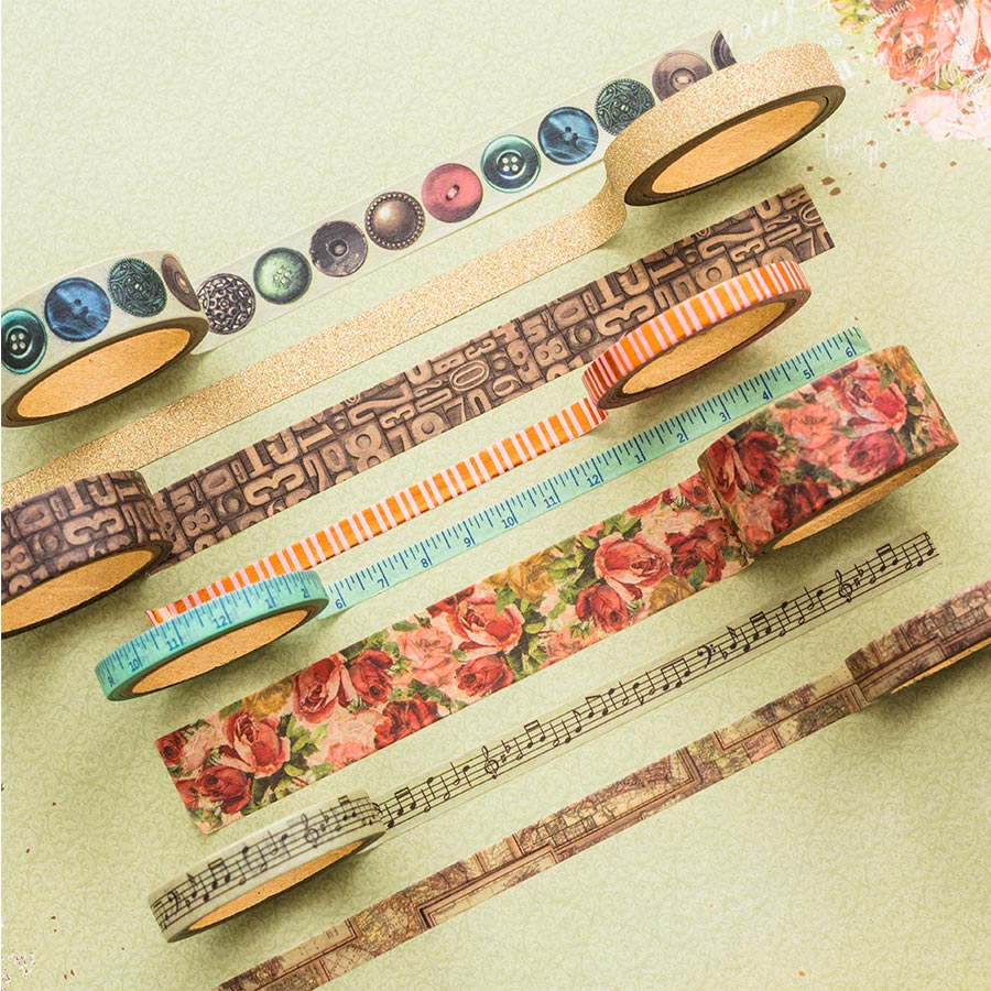 Family Heirlooms Washi Tape - 8 rouleaux