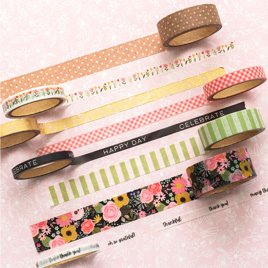 Lovely Moments Washi Tape - 8 rouleaux