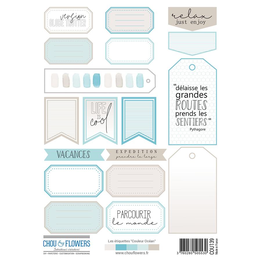 Couleur Océan Les étiquettes - 2 planches