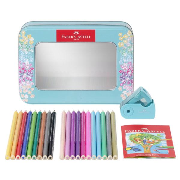 Coffret métal Sparkle 20 crayons + taille crayon