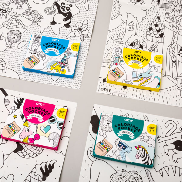 Coffret coloriage Pocket Princesses et dragons