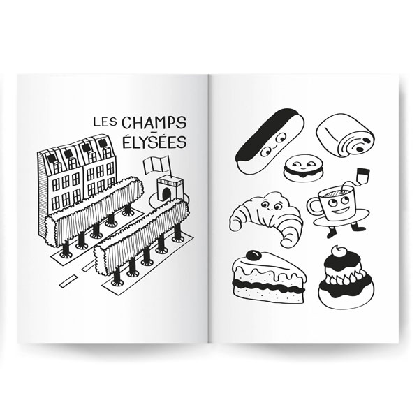 Album de coloriage Coloring book Paris