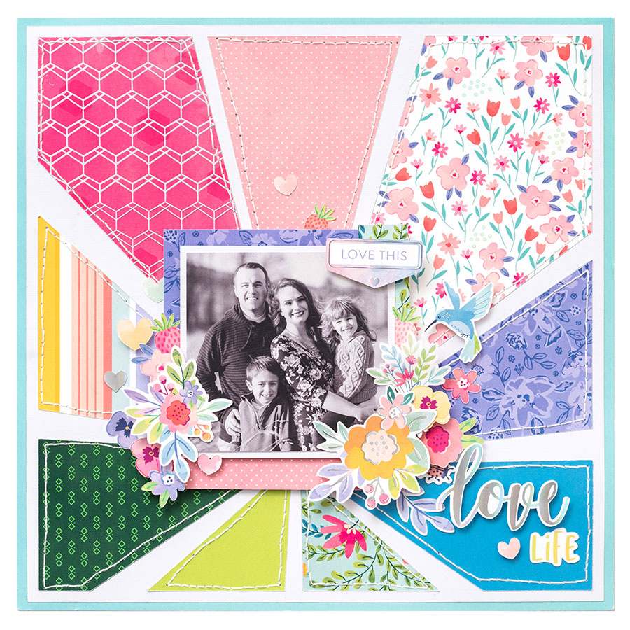 Bloom Street Washi Tape - 8 rouleaux
