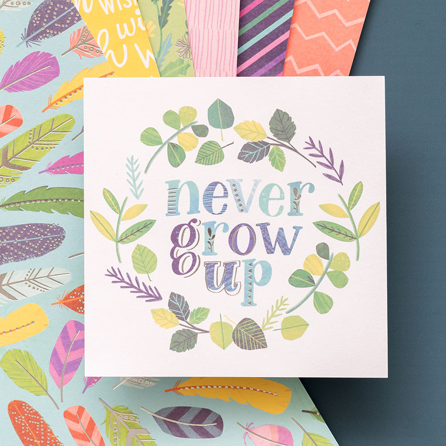 Never Grow Up Formes découpées Ephemera