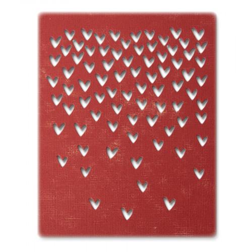Thinlits Die Set Pluie de cœurs - 4 pcs