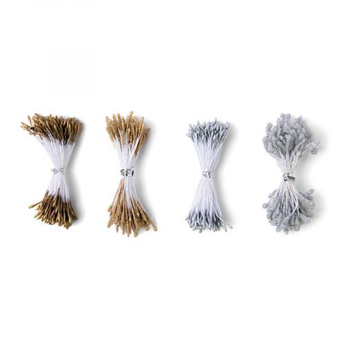 Pistils de fleur - métallique - 400 pcs